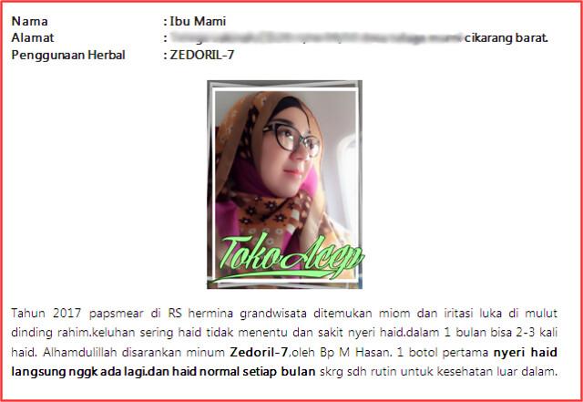 Zedoril 7 Bersih Kanker