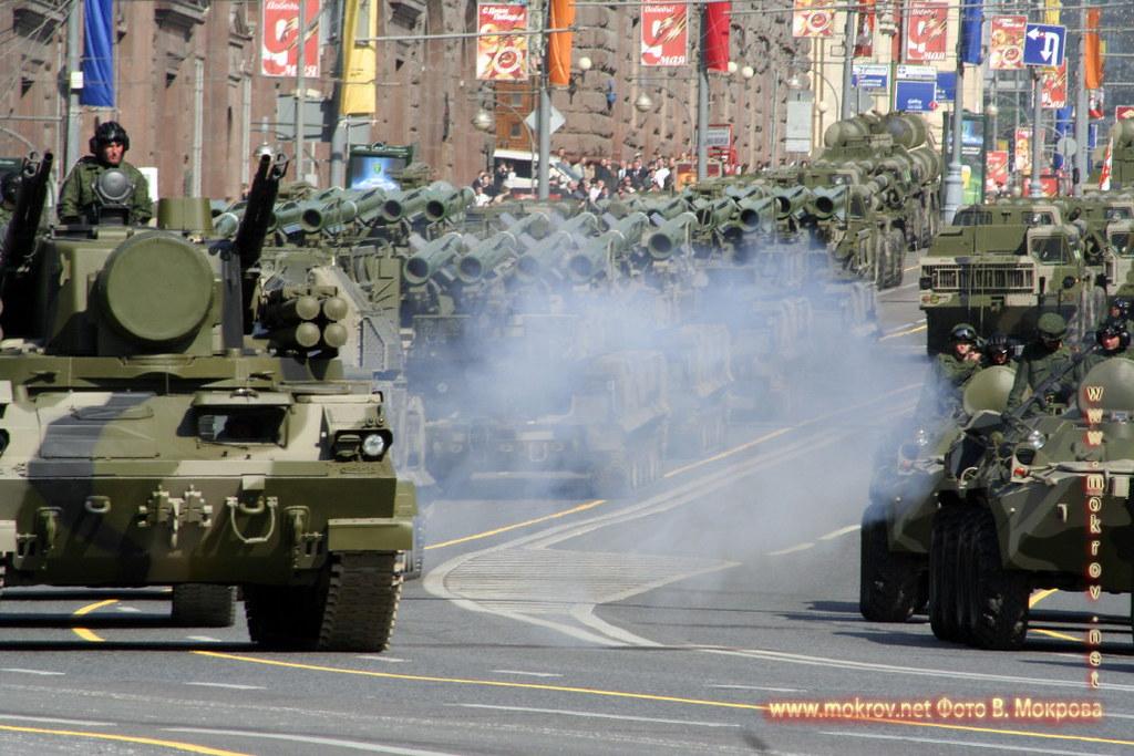 Военный парад 9 мая 2008 г. в Москве прогулки туристов