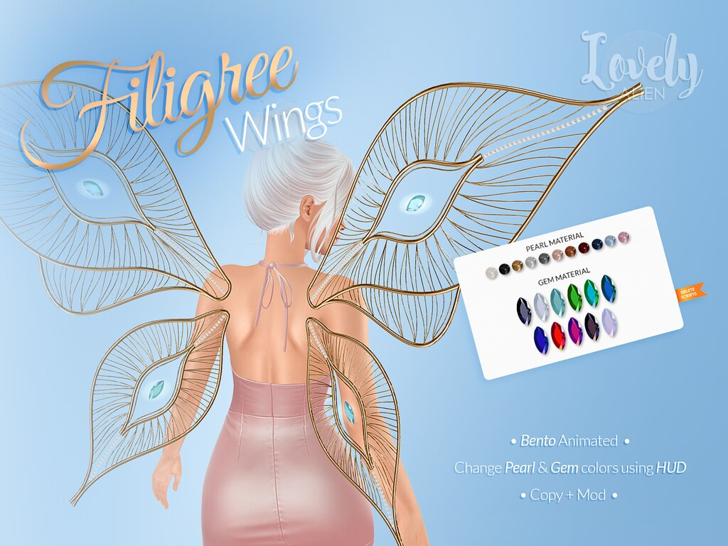 Filigree Wings For: SaNaRae