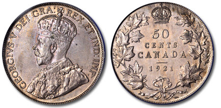 1921 Canada Fifty Cents