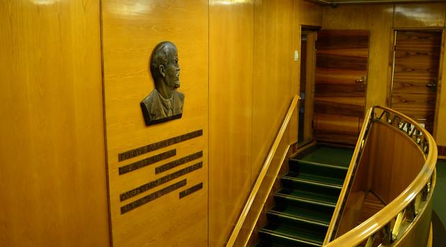 On board the Lenin
