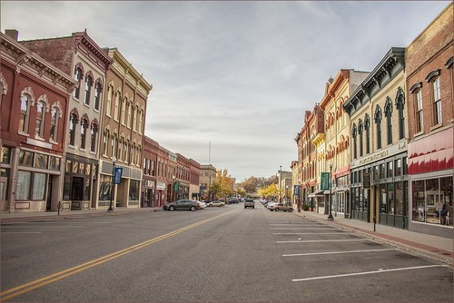Main Street in Small Town America