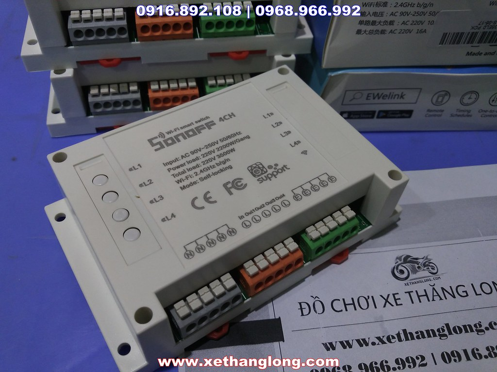Công tắc điều khiển 4 thiết bị, điều khiển qua mạng