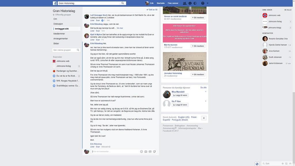 gran historielag thomassen facebook