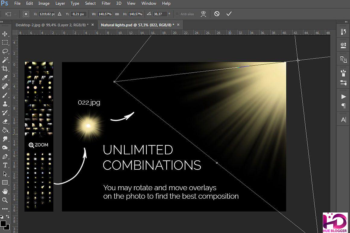 100+ Overlay ánh sáng tự nhiên