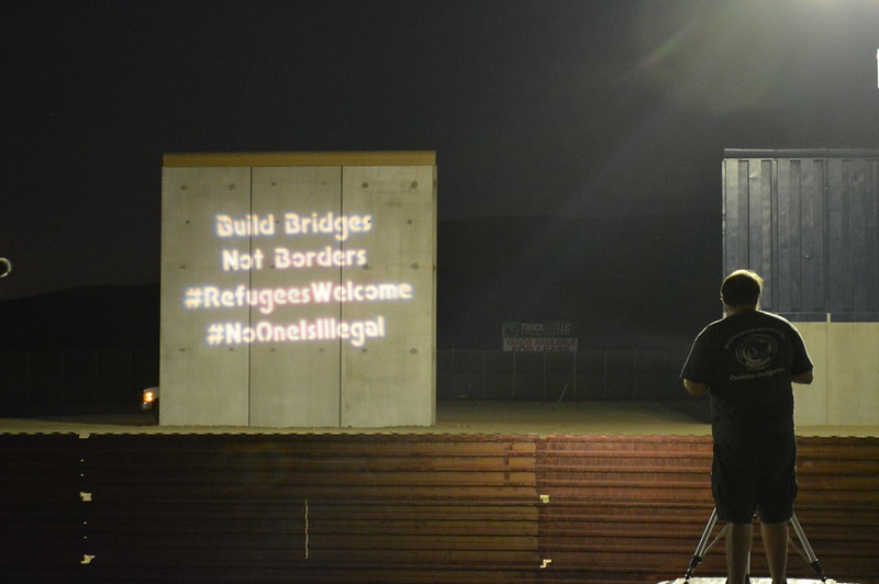 San Diego Border Wall Projections (photos by Jill Marie Holslin and OLBSD)