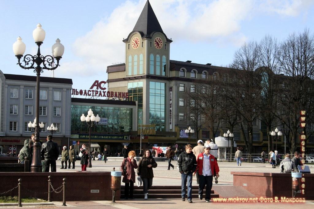 Центральная площадь в городе Калининграде
