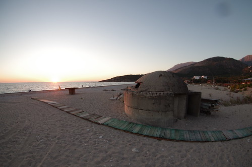 Bunker on Albanian beach
