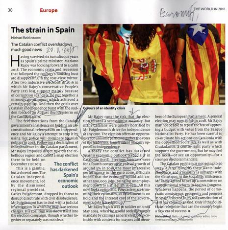 17k222 Economist Perspectivas 2018 La crisis catalana pesará en la economía española Uti 465