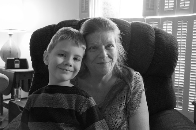 Connor and Grammy, Thanksgiving 2017