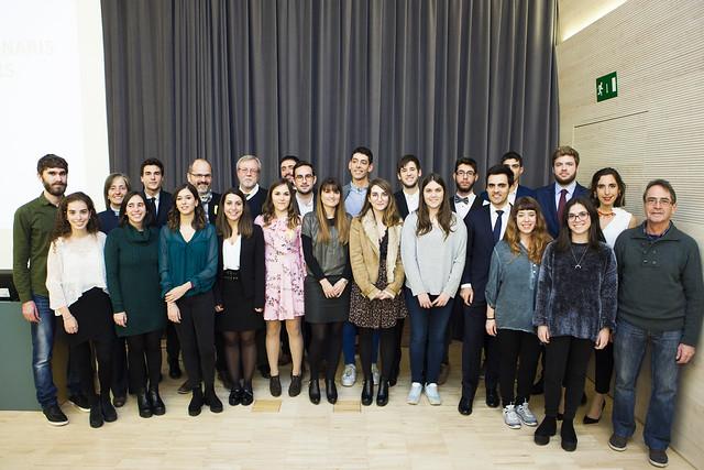 Acte de lliurament dels Premis Extraordinaris de Fi d'Estudis del curs 2016-2017
