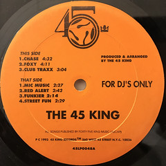 THE 45 KING:THE LOST CLUB TRAXS (VOLUME 1 & 2) - THE ORANGE ALBUM(LABEL SIDE-A)