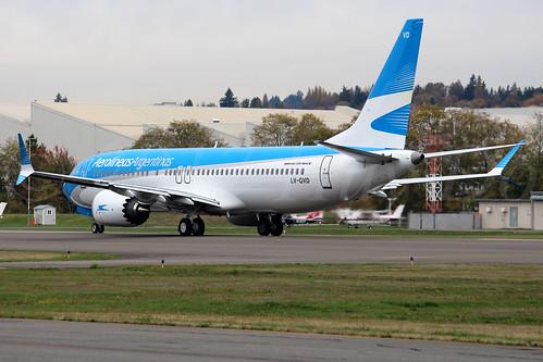 Boeing 737 MAX 8 Aerolíneas Argentinas LV-GVD LN6661