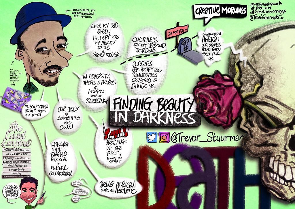 #CreativeMornings — @Trevor_Stuurman — #Death — Nov 2017 — #Sketchnotes by @RoyBlumenthal