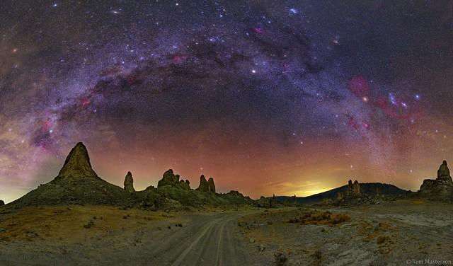 Fall Milky Way Above the Trona Pinnacles
