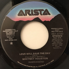 WHITNEY HOUSTON:LOVE WILL SAVE THE DAY(LABEL SIDE-A)