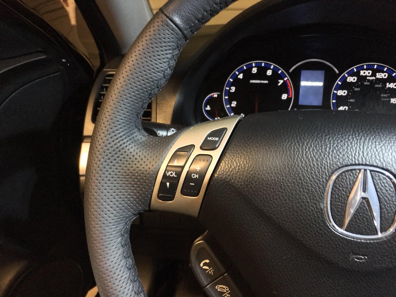 New Leather Steering Wheel Wrap Acura Tsx Forum