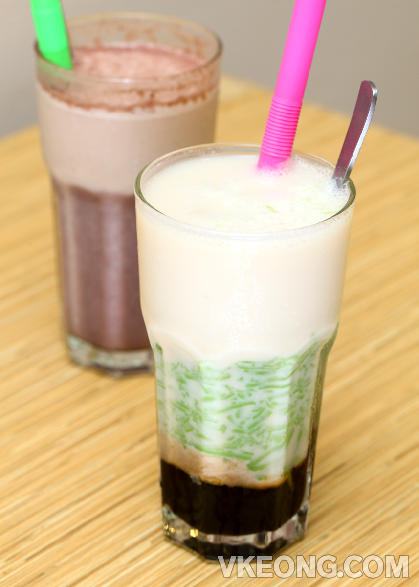 Cendol-Soya-Milk-with-Red-Bean