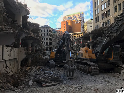 Winthrop Square Garage Demolition Photos