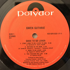 GWEN GUTHRIE:GOOD TO GO LOVER(LABEL SIDE-A)