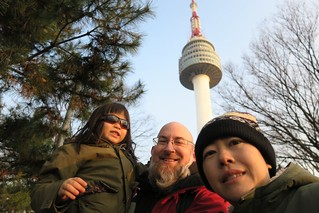 Lisa, Alan, and Dave at North Korea Tower