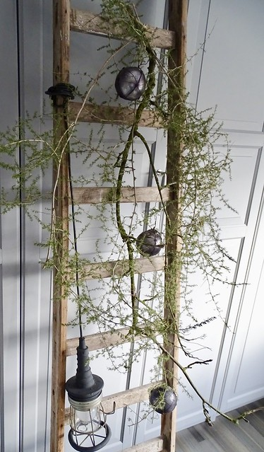 Ladder looplamp kerstgroen