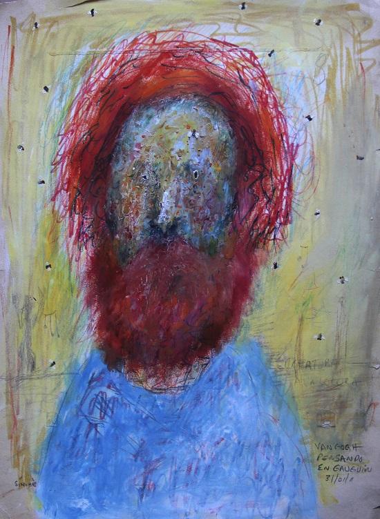 Sinuhé muestra su diario personal en forma de retrato / Ex Convento del Carmen