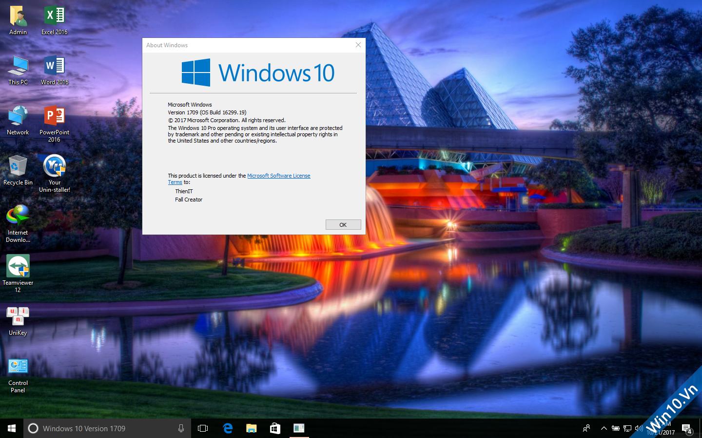 Ghost Windows 10 1709 Full Soft Full Driver 32bit/64bit by ThienIT 73