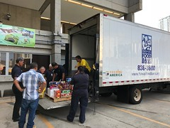 Hawaiian Electric's Holiday Food & Fund Drive - October-November, 2017: Loading up a truck to deliver to Hawaii Foodbank