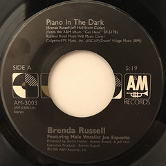 BRENDA RUSSELL:PIANO IN THE DARK(LABEL SIDE-A)