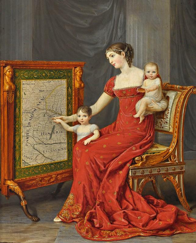 Andrea Appiani - Auguste Amalie de Beauharnais, Vizekönigin von Italien, mit ihren Töchtern Josephine und Eugenie (1809)