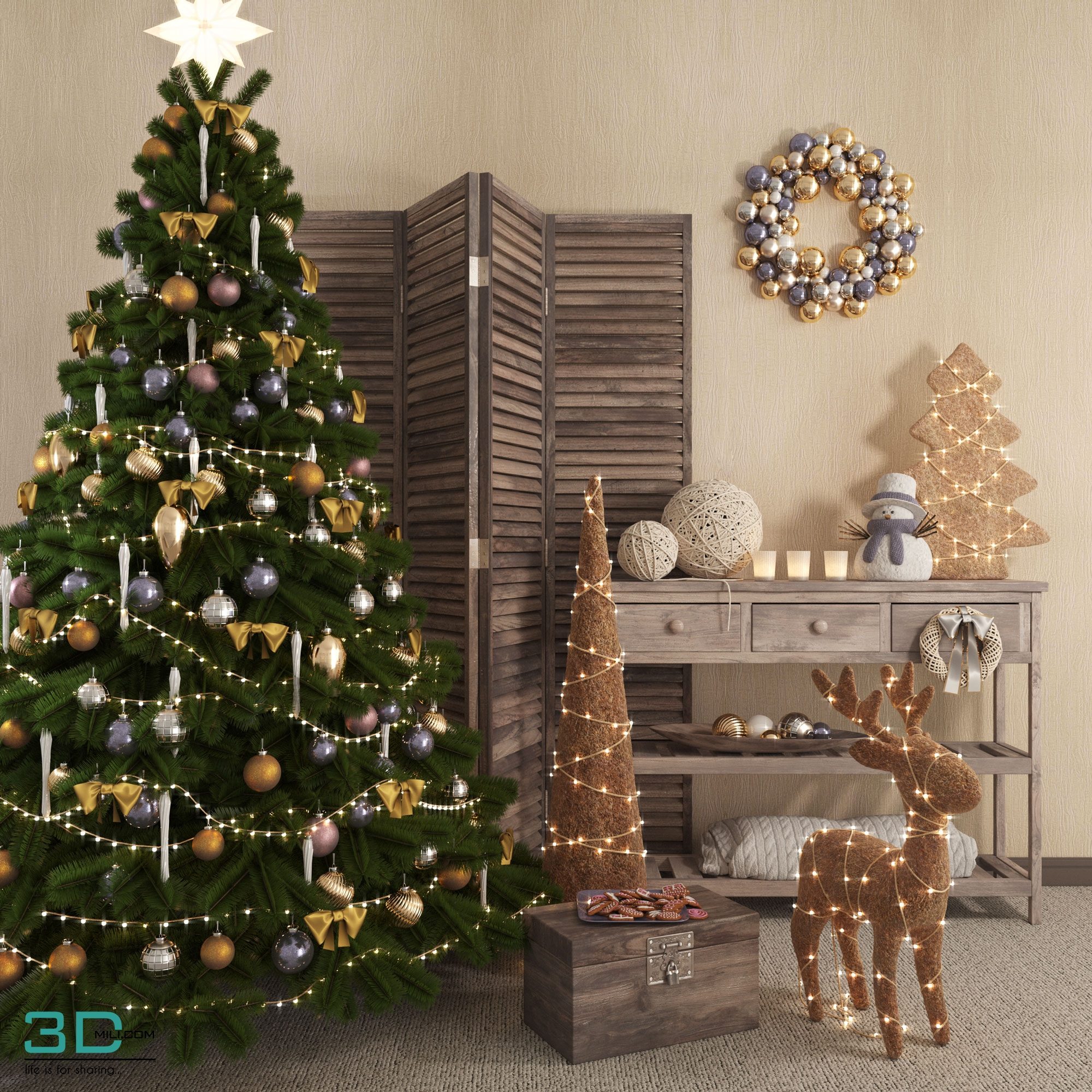 3dSkyHost: Christmas Decor 2 3dmodel Free Download