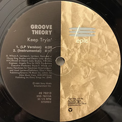 GROOVE THEORY:KEEP TRYIN'(LABEL SIDE-A)