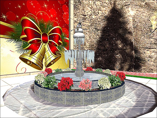 Mieville's World Winter Festival -  Frosted Fountain