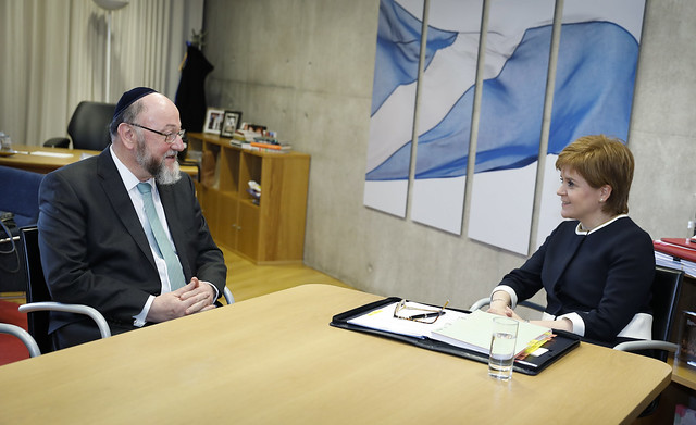 Meeting with Chief Rabbi Ephraim Mirvis