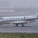 CS-DXG - 2007 build Cessna 560XLS Citation Excel, taxiing to the Signature apron on arrival at a snowy Manchester
