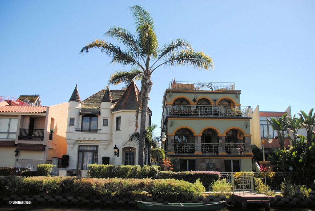 Venice Canalsin talot ovat arkkitehtuuriltaan monipuolisia, Los Angeles, USA