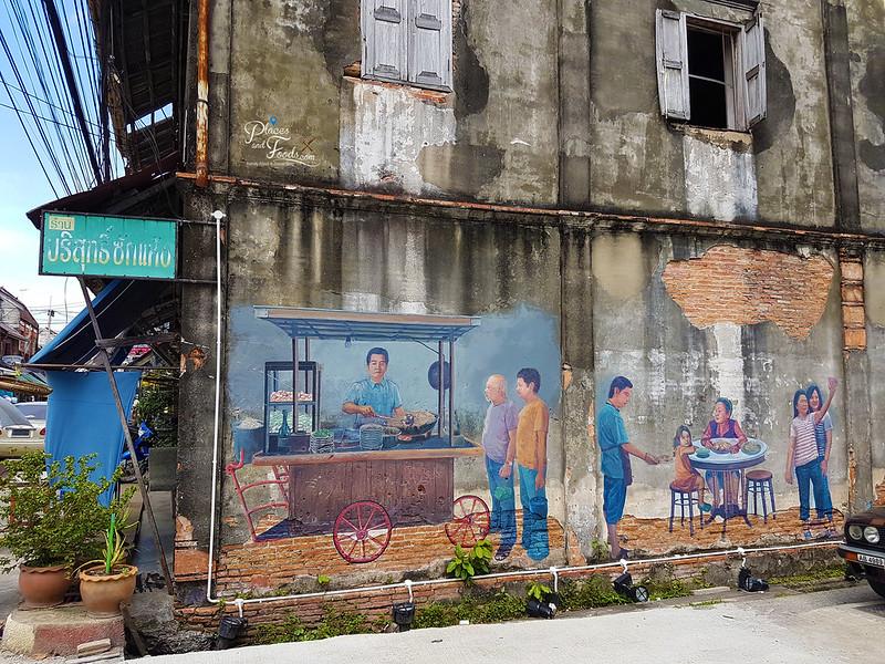 songkhla old town street art stall