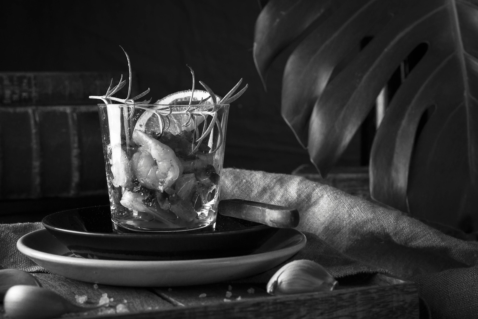 Shrimps in a glass