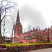 A rear view of the Parish Church of St.John ( Preston Minster ) Preston, Lancashire.