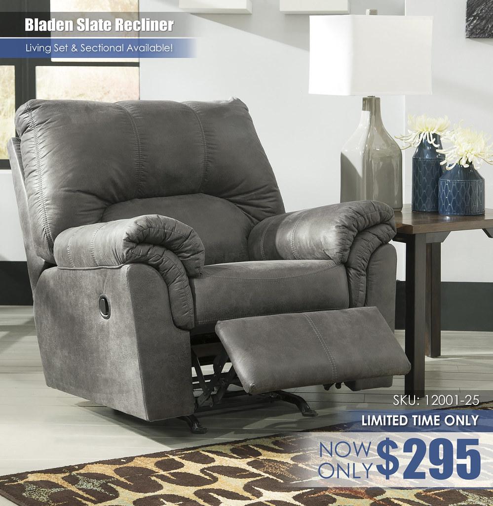 Bladen Slate Recliner Special