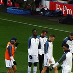 Leicester warm up