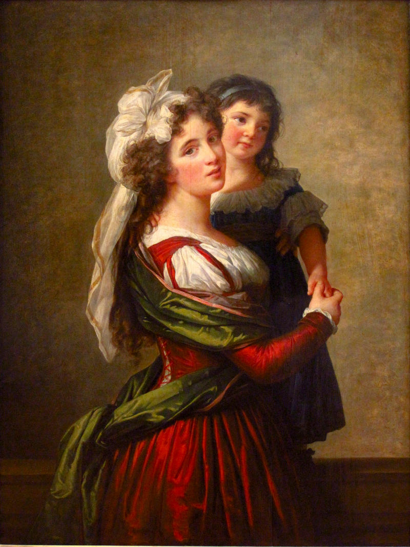 Madame Rousseau and her daughter by Louise Élisabeth Vigée Le Brun, 1789