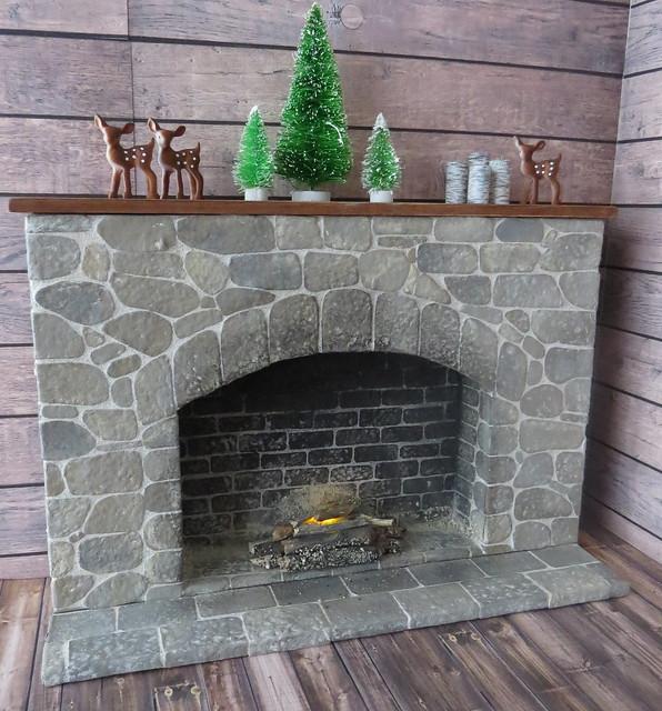 9. Finished 1:6 Stone Fireplace