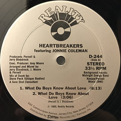 HEARTBREAKERS:WHAT DO BOYS KNOW ABOUT LOVE(LABEL SIDE-A)