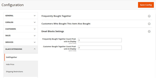 Magento 2 sold together extension