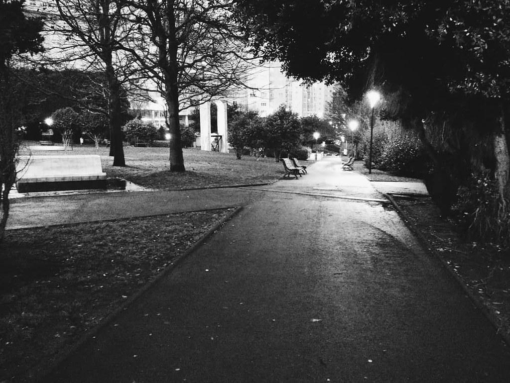 El parque en blanco y negro. #losrosales #Coruña #winter #blackandwhite #phonephoto #photography