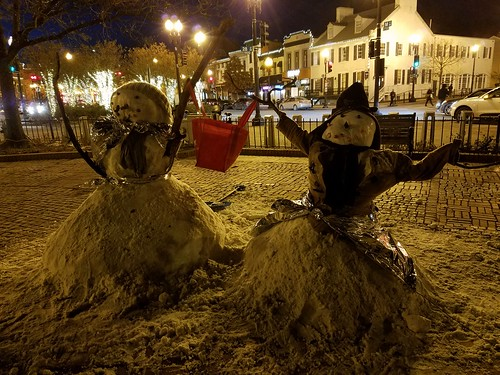 Georgetown Snow Couple