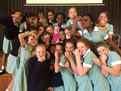 Tue, 12/12/2017 - 19:54 - FARTASTIC! A brilliant class photo from Grade 5, Greenfield Girls Primary School, Kenilworth, Cape Town, South African. In the centre of the photo, clutching a copy of Princess Pumpalot: The Super-Farting Bean Mystery, is Alyssa. #Fart2017 Palace News: www.princesspumpalot.co.uk/20171211/princess-pumpalot-sou...
