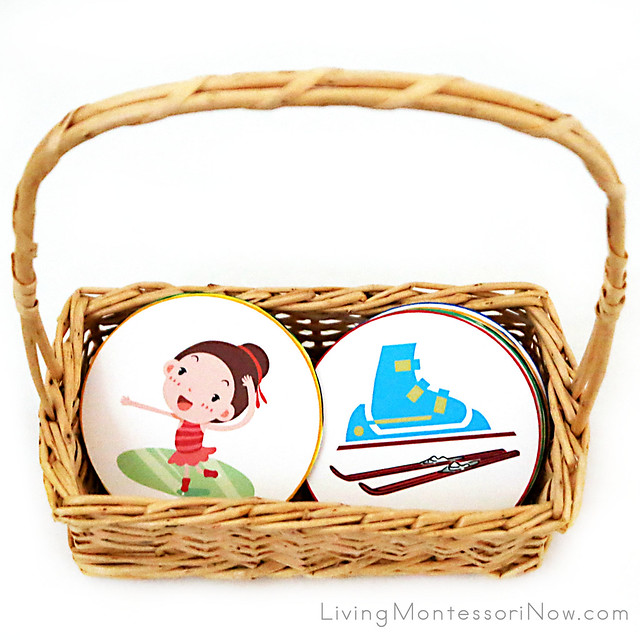 Basket with Winter Sport and Equipment Matching